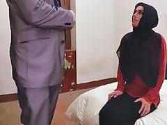 Kinky Arab girl rims guy's asshole and mounts his hard pecker